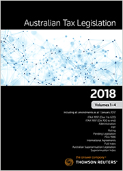 Australian Tax Legislation 2018 Vol 1-4